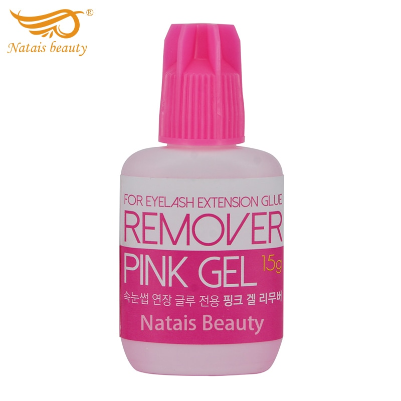 Removedor de pegamento para pestañas postizas extensión removedor de maquillaje tipo Gel rosa