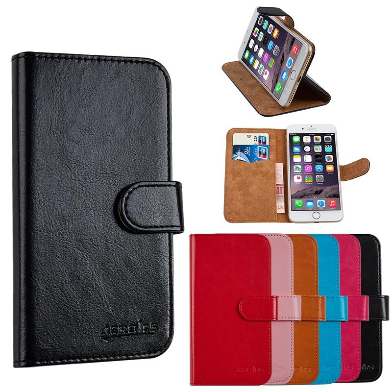 Cartera de cuero PU de lujo para Casper Via G1 Plus funda del bolso del teléfono móvil con soporte de la tarjeta del sostenedor de la caja del estilo Vintage