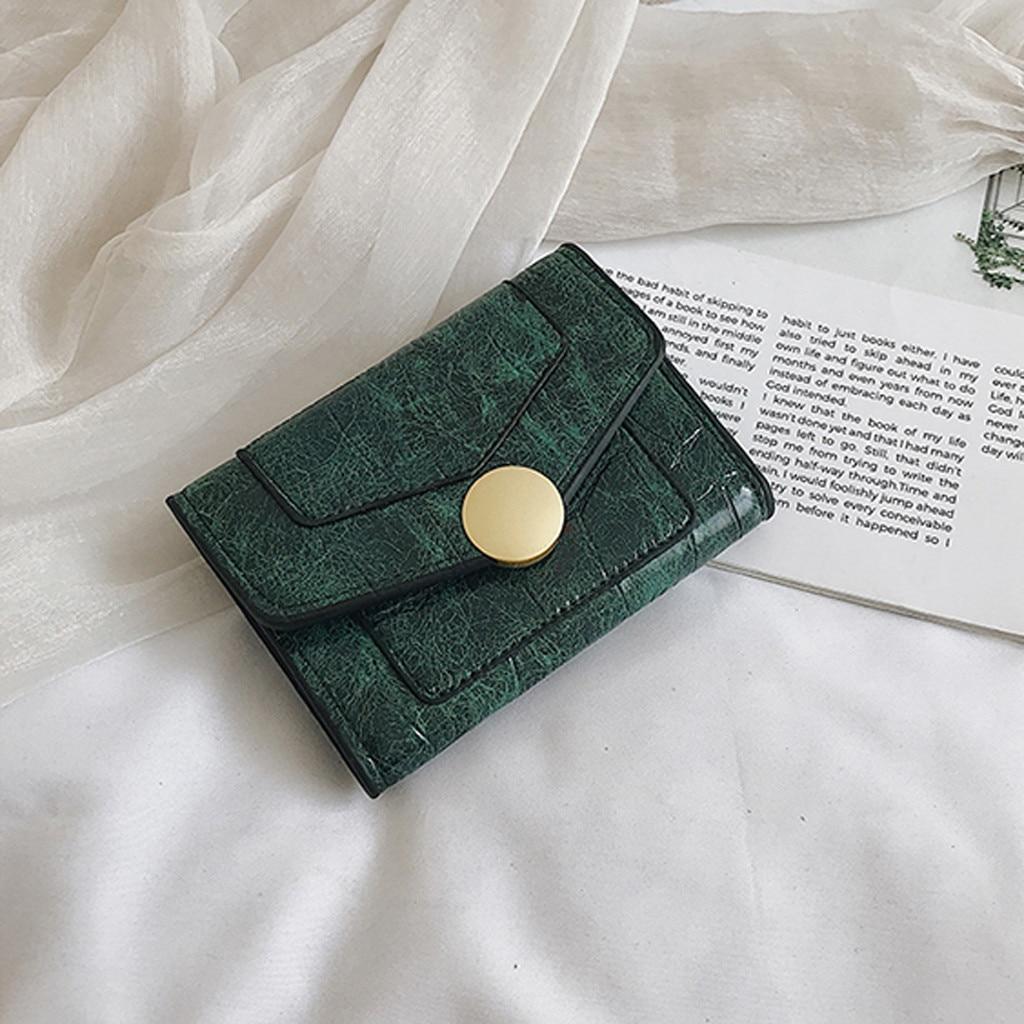 Bolso Retro para mujer, Color puro, característico, largo, monedero, monedero, tarjetero, bolso...