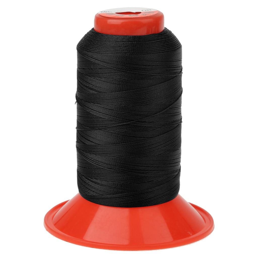 Mochila para tienda de campaña de nailon de color negro de 500 metros, hilo de coser para tienda de campaña, toldo, mochila