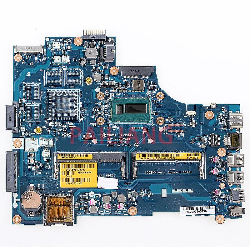 PAILIANG portátil placa base para Dell Inspirion 15R 3537 5537 I3-4010U PC placa base CN-0CX6H1 0CX6H1 VBW01 LA-9982P tesed DDR3