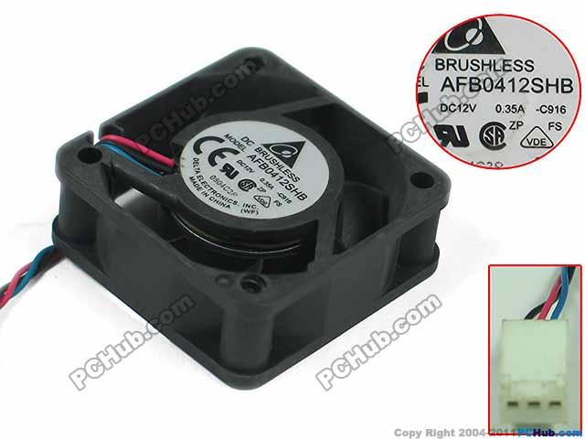 Ventilador de refrigeração do servidor da c.c. 12v 0.35a 40x40x15mm de detla electronics afb0412shb c916