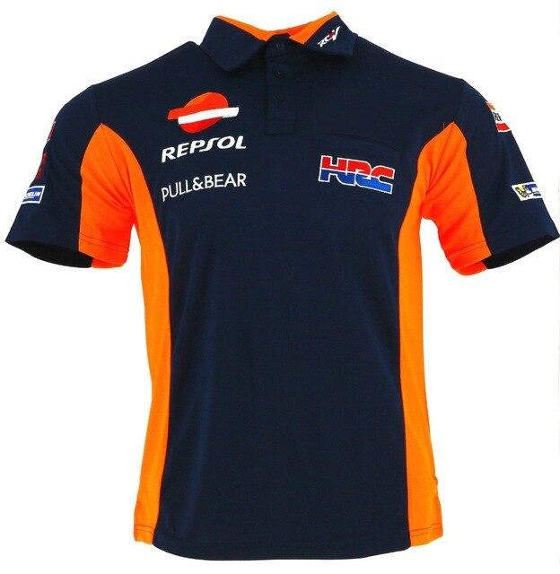 Moto de Gas de Repsol Moto PADDOCK Polo camisa de carreras de Moto de Motocross equipo de bicicleta Hon Racewear