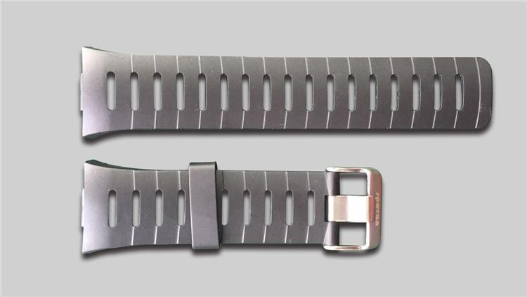 Free Shipping Original 22mm Black Silicone Rubber Watch Strap Waterproof Sports Watch Band For WristsWatch Spovan SPV709 SPV710
