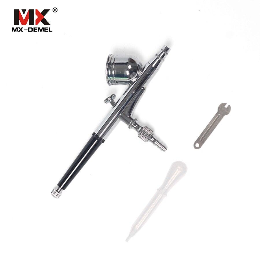 MX-DEMEL portátil de 0,3mm para alimentación por gravedad, juego de aerógrafo de doble acción, pistola pulverizadora de pintura BT-180 T, aerógrafo para herramientas de tarta artística de uñas