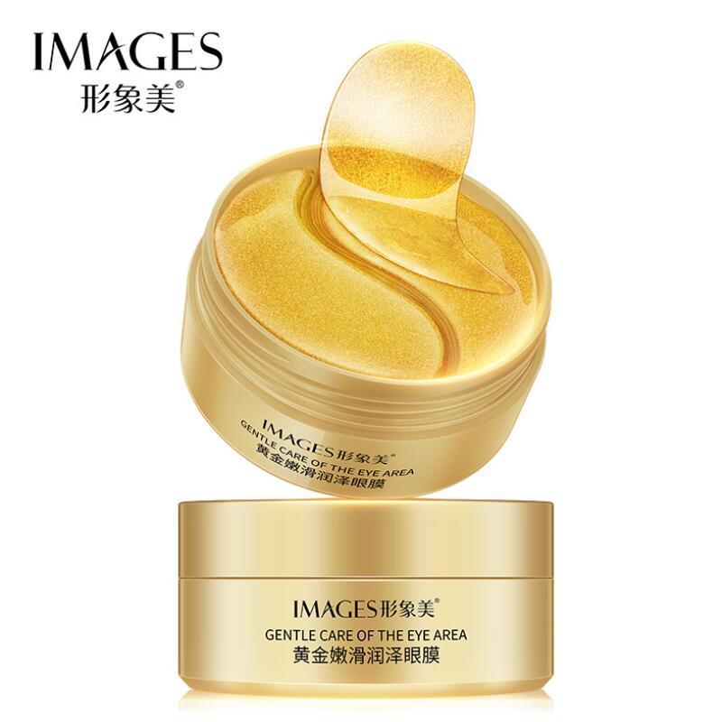 Images 60pcs Gold Eye Mask Nourish Moisturizer Hydration Eye Patches Remove Dark Dircles Anti-Wrinkle Eyes Pads Eye Skin Care