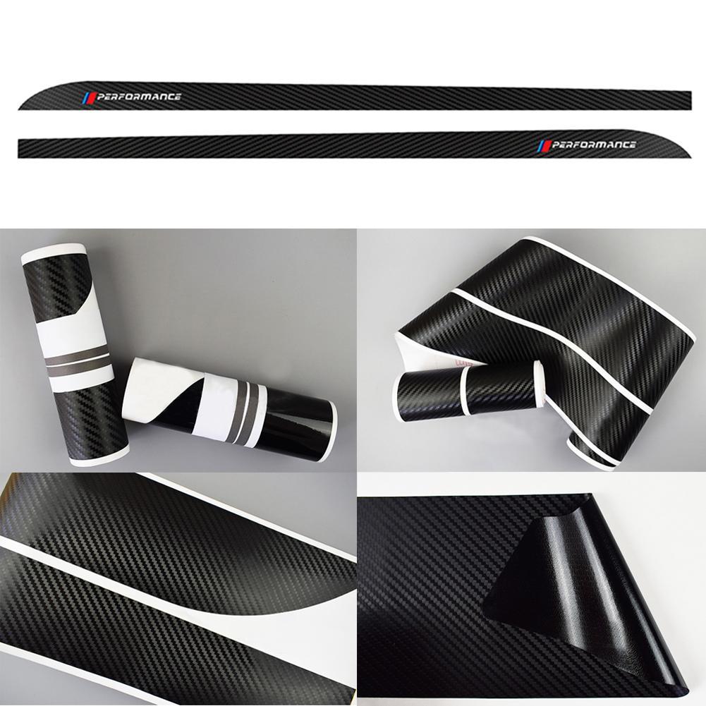 M производительность сбоку юбка пороги наклейки для BMW F30 F31 F32 F33 F15 F16 F10 E60 E61 углеродного волокна виниловые наклейки