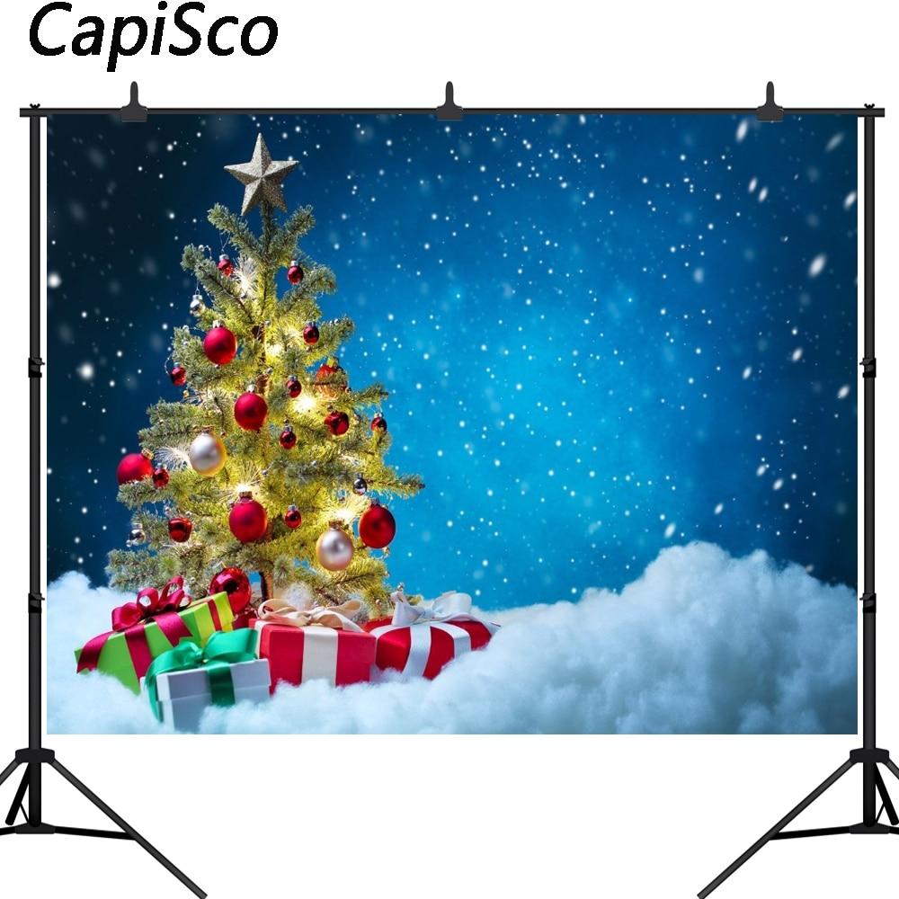 Capisco celebração dom azul fundo photo studio fotografia pano de fundo árvore de Natal novo design câmera fotografica