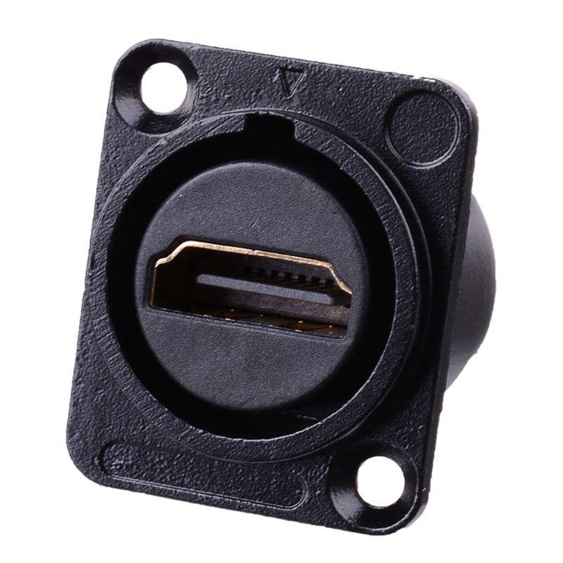 Разъем HDMI D-type RJ45 розетка сетевая втулка Шасси Панель Крепление аудио разъем металлический HD авиационный кабель Cat5e Cat6