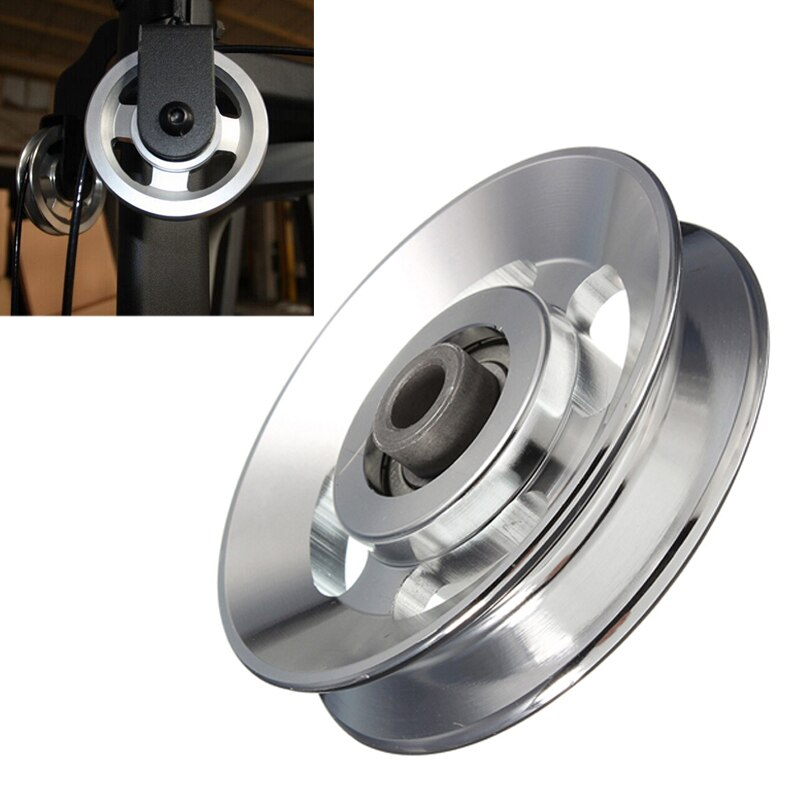 88mm Universal Aluminium Aufzug Schwere Last Lager Pulley Rad Kabel Fitness Gym Ausrüstung für Klettern Camping Pulley