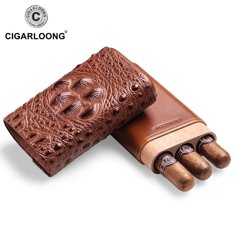 Caixa de Viagem Cigarloong Nova Chegada Charuto Case Humidor Portátil Couro Cf-0406 2021