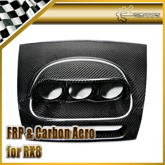 اكسسوارات السيارات لمازدا RX8 ألياف الكربون داش جبل الثلاثي مقياس قرنة RHD 60 مللي متر لامع الألياف Aotu الداخلية أداة غطاء الكسوة