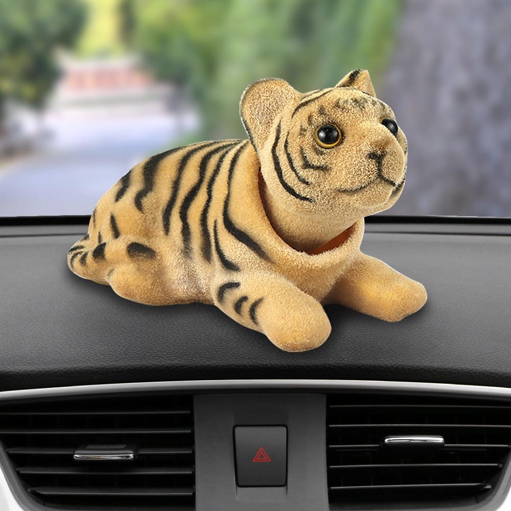 WGYDX Dashboard Decoration Car Ornaments Funny Auto Noddong Shaking Head Dog Automobiles Dashboard Pendant Interior Furnishings Desk Decoration Accessories