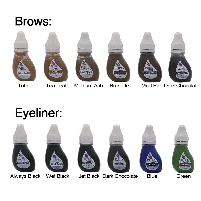 1PCS Original USA BTCH Pigment Get Pure Confidence Pure Micropigment Permanent Makeup Tattoo Inks Ey