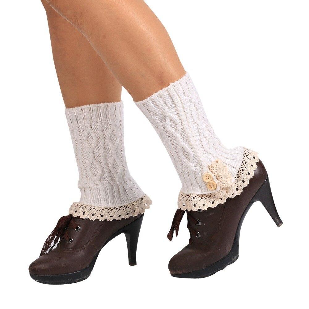 Calentadores de pierna de invierno de 22cm para mujer, calcetines cortos para botas, calentadores de pierna para mujer