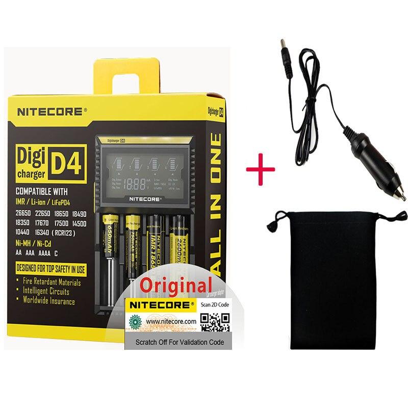 Nitecore D4 D2 nowy I4 nowy I2 Digicharger LCD inteligentny Li-ion AA AAA 18650 14500 16340 26650 szybka ładowarka H15