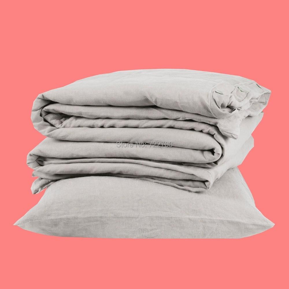 3 قطعة الحقيقي الطبيعي النقي الكتان ورقة مجموعة شمس الفرنسية خمر الكتان وسادة حالة السرير غسلها الكتان ملاءات سادات