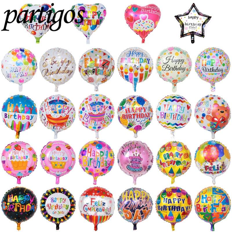 بالونات عيد ميلاد سعيد من الألومنيوم ، 50 قطعة ، 18 بوصة ، الهيليوم ، الديكورات المنزلية ، ألعاب تزيين الحفلات للأطفال ، بالجملة
