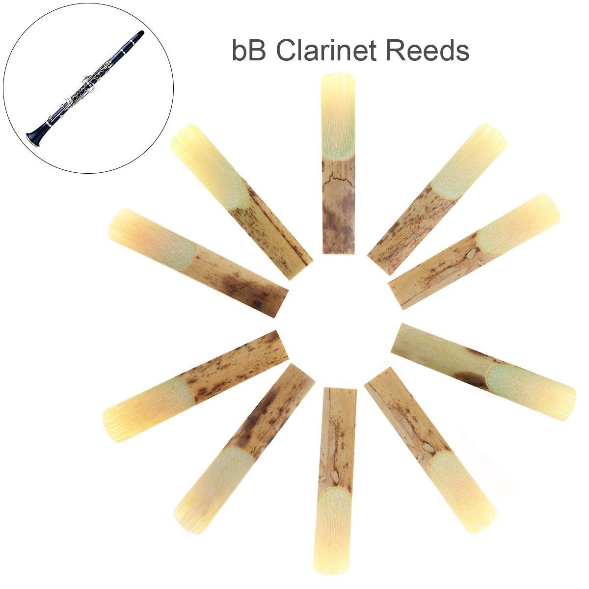 10 unids/lote profesional de lengüetas de clarinete bB fuerza 2,5 para clarinete boquilla piezas de bambú tradicional Reed