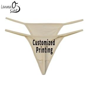 Lanmaocat Women's Panties G String Personalized Underwear Thongs Custom Panties Plus Size Sexy Thongs Cotton Panty