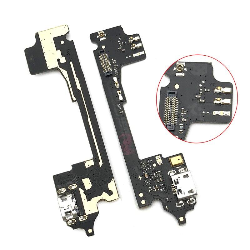 Placa del cargador PCB Flex para Alcatel One Touch Idol 3 OT6045 OT USB 6045 Puerto conector Dock de carga de Cable plano