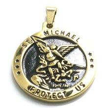 Pendentif unisexe en acier inoxydable 316L étoile SAINT MICHAEL protéger les états-unis