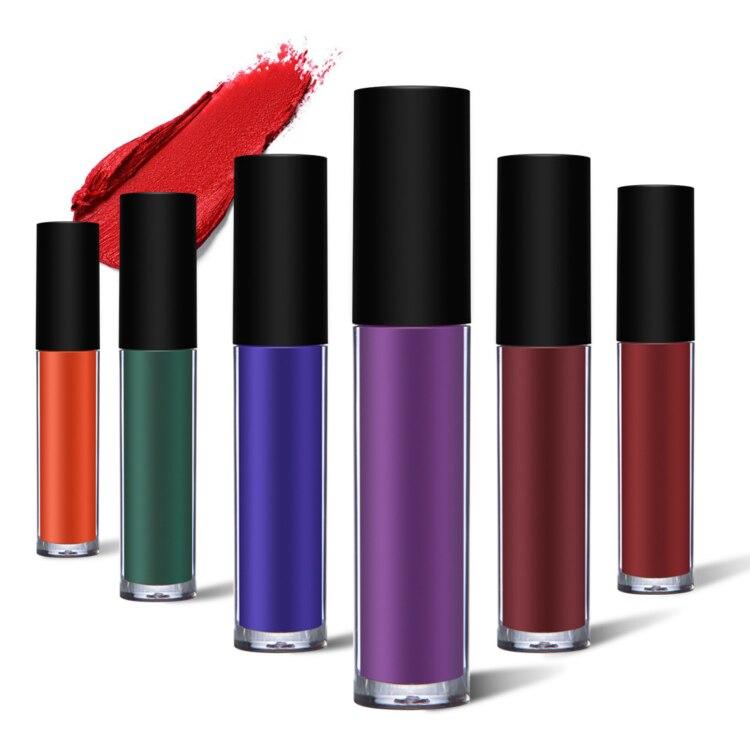 No Logo 6 colores líquido mate brillo labial belleza cosméticos impermeable brillante brillo labial 20 piezas