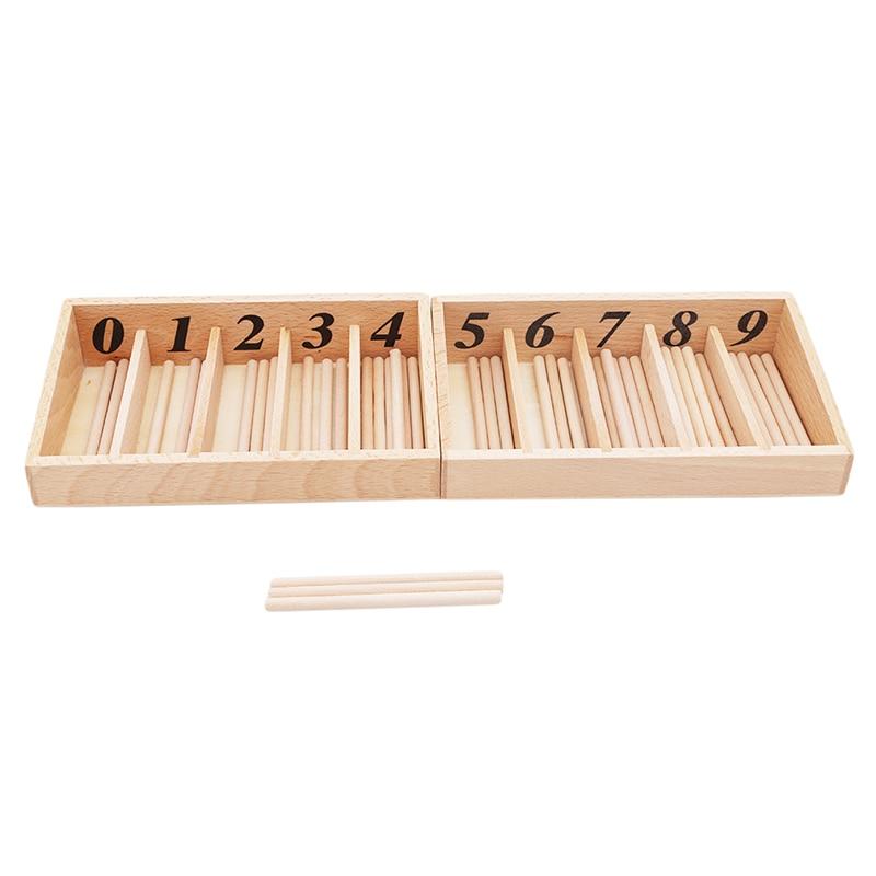 Montessori Juguetes Educativos de madera para niños caja de husillo con 45 husillos de aprendizaje de matemáticas y husillo versión familiar