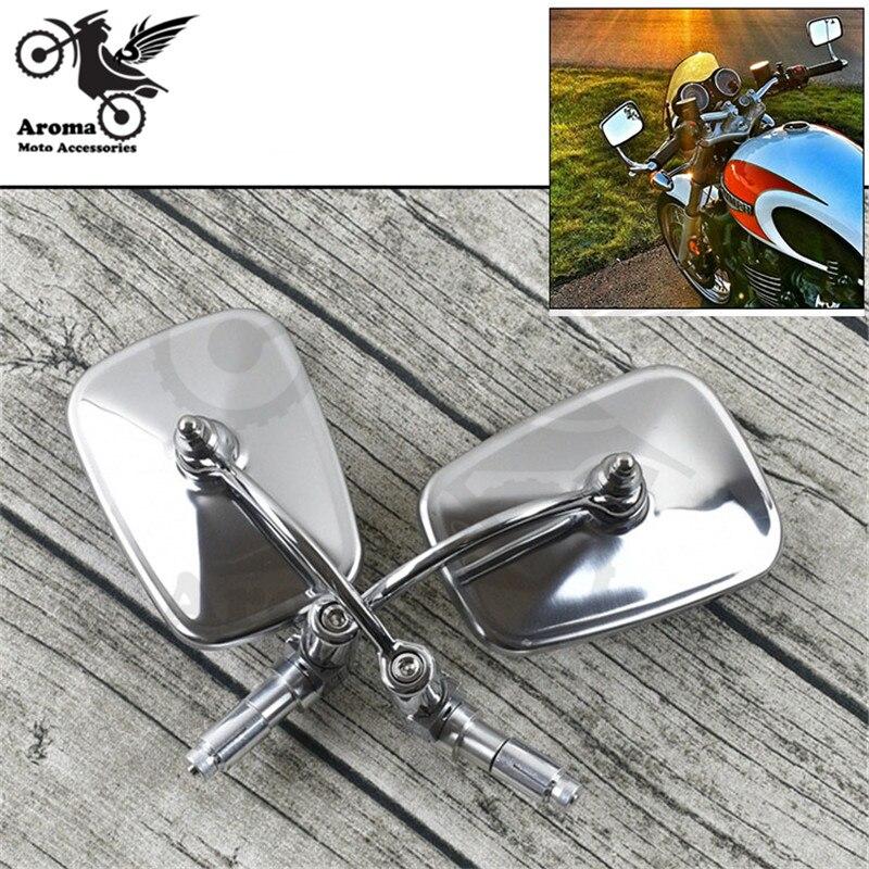 Accesorios universales de vista trasera de agarre cromado de alta calidad, mirros de extremo de barra de moto para espejo retrovisor de motocicleta harley prince cruise