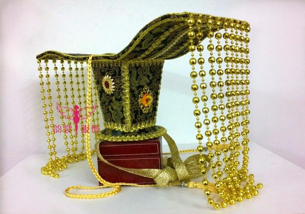2 diseños TV Play traje de pelo Tiaras antiguo chino Han dinastía emperatriz rebordear cortina pelo pieza Tiaras