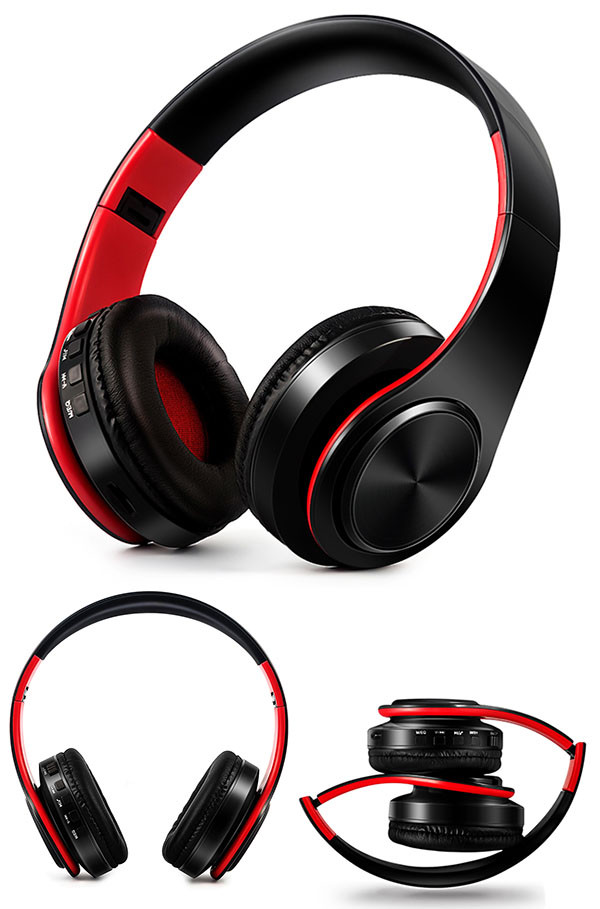 Słuchawki Bluetooth Headset słuchawki Bezprzewodowe Słuchawki Stereo Składany Sport Słuchawki Mikrofon słuchawki Tryb Głośnomówiący odtwarzacz MP3 15