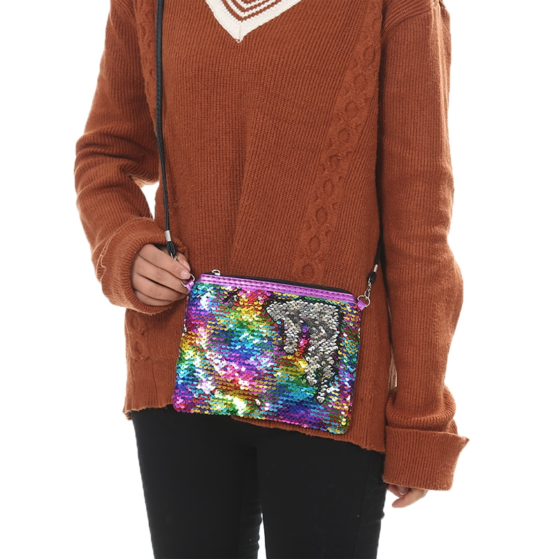 New Sequin Women Small Handbag Mermaid Glitte Girls Crossbody Shoulder Bag Fashion Female Day Clutch Envelope Purse 2019 spring