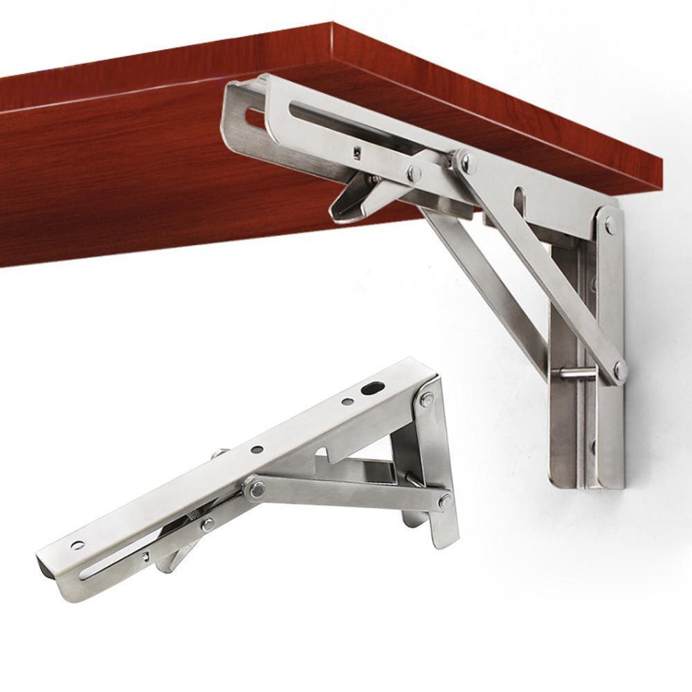 8in/10in/12in/14in resistente polido inoxidável dobrável prateleira bancada mesa prateleira ou suporte