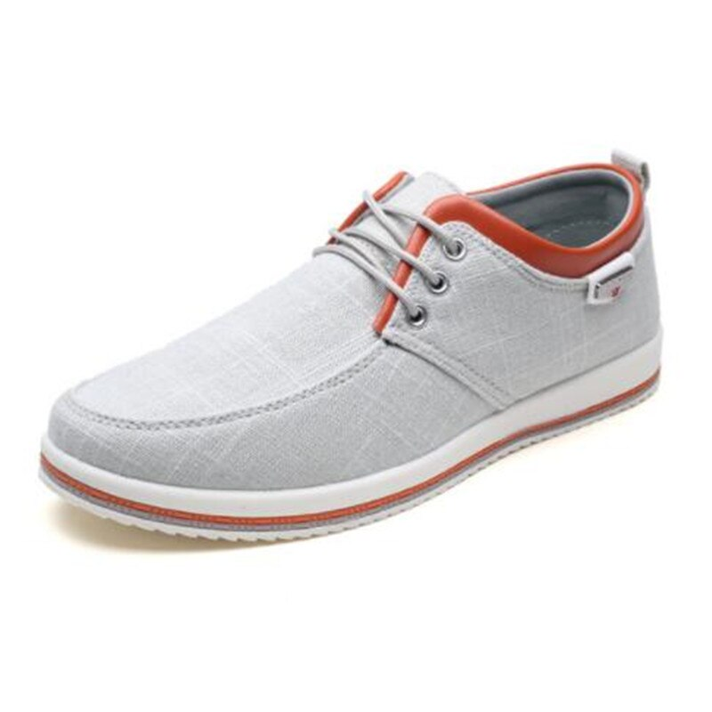 New Arrival spring summer comfortable mens casual shoes  breathable canvas Lace-Up Brand Fashion Flat Loafers Shoe