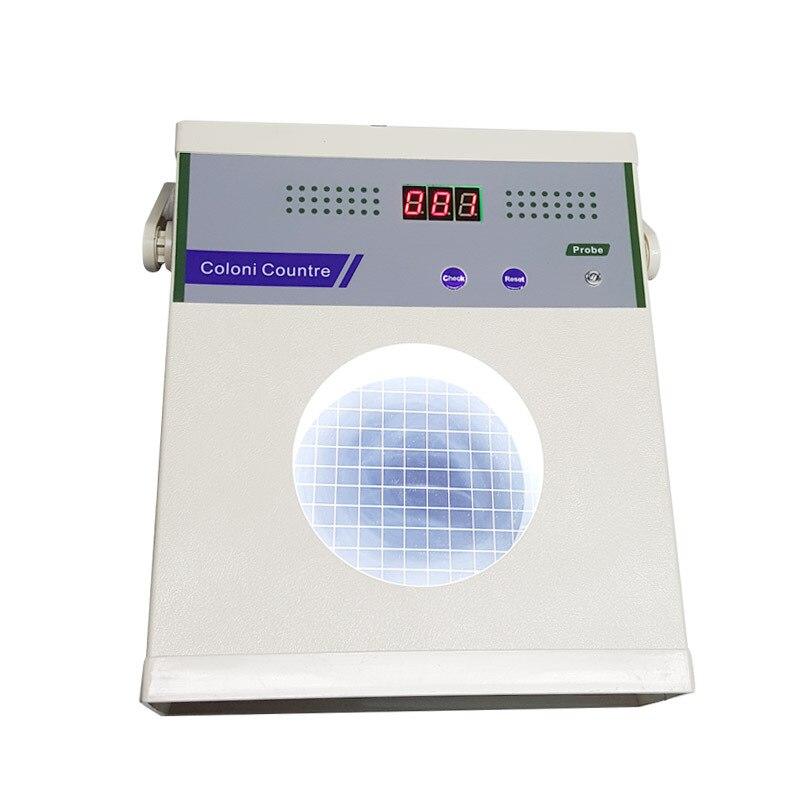Gran oferta de 220 V, contador Digital de colonias de escritorio, probador bacteriano semiautomático 0-999, contador bacteriano, equipo de prueba de laboratorio de 16W
