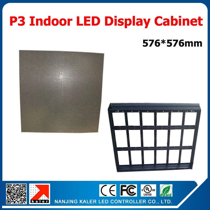 TEEHOP3 innen-vollfarb-led-display 576*576mm einfach und leicht führte vitrine indoor video wandmontage auf wand videowand