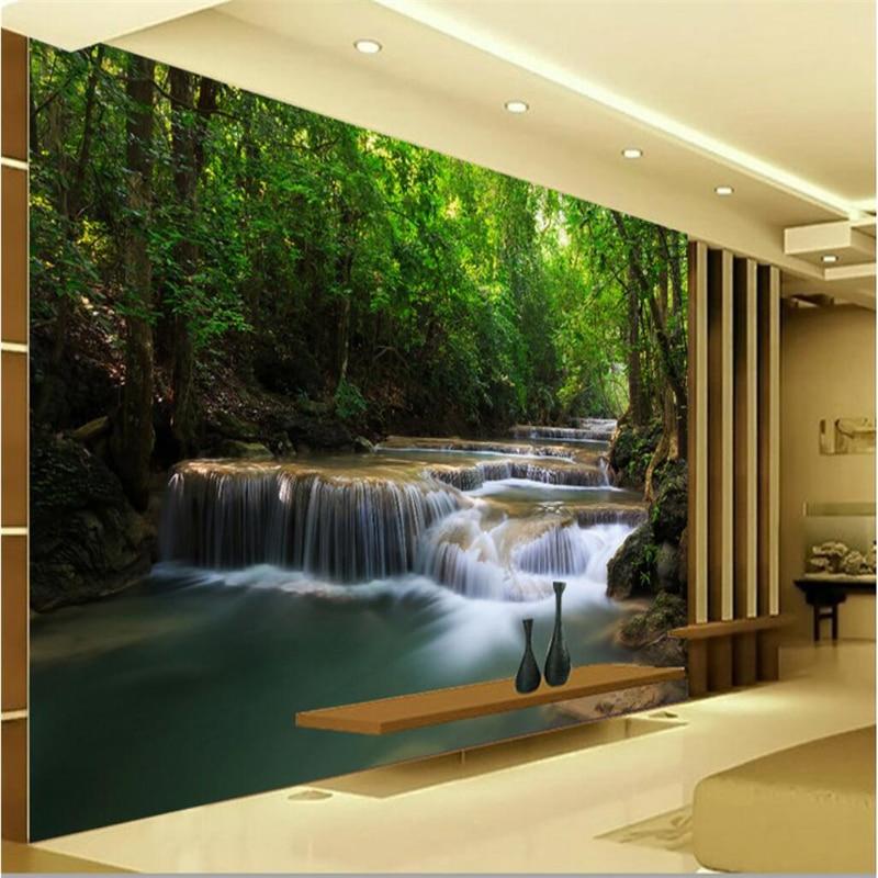Beibehang gran papel tapiz murales Personalización de foto cualquier tamaño paisaje cascadas sala de estar dormitorio sofá fondo de pantalla