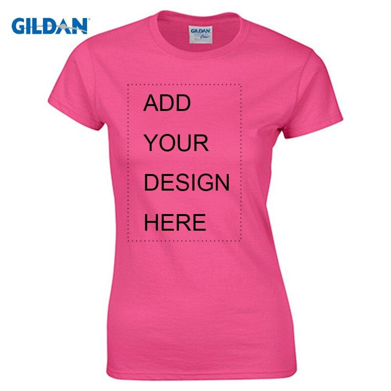 Gildan, camiseta personalizada para mujer, imprime tu propio diseño, camisetas de alta calidad, camisetas, envío en 3 días de talla grande S-XL