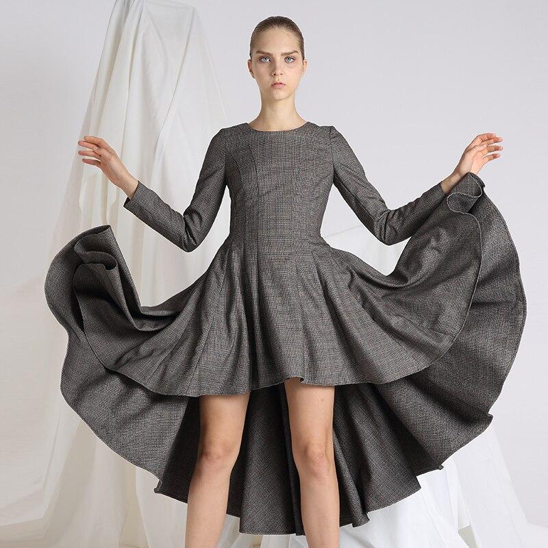 فستان نسائي IRINAW854, فستان ذو أكمام طويلة 2019