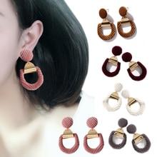 Women  Geometry Earring Ear Stud 1Pair Hollow  Jwelry Gifts Charm Velvet  New Hot Retro Circle