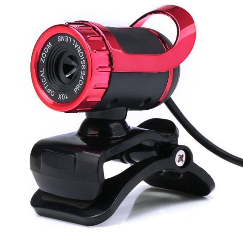 Vídeo HD Webcams cámara Web USB 2,0 de 360 grados Webcam con absorción de sonido micrófono para PC ordenador portátil