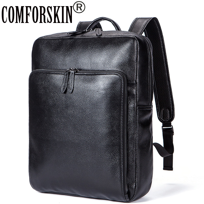 COMFORSKIN Brand Guaranteed Genuine Leather Women Backpacks New Arrivals Mochilas Mujer 2018 European and American Shoulder Bag