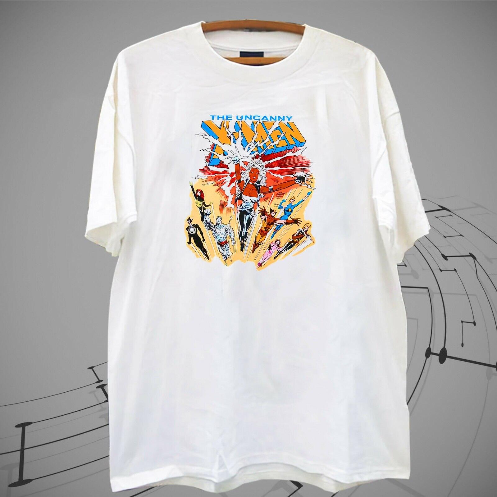 ¡Nuevo! VTG vtg 80 s 1988 The Uncanny X-MEN camiseta blanca camiseta nueva marca-ropa camiseta top