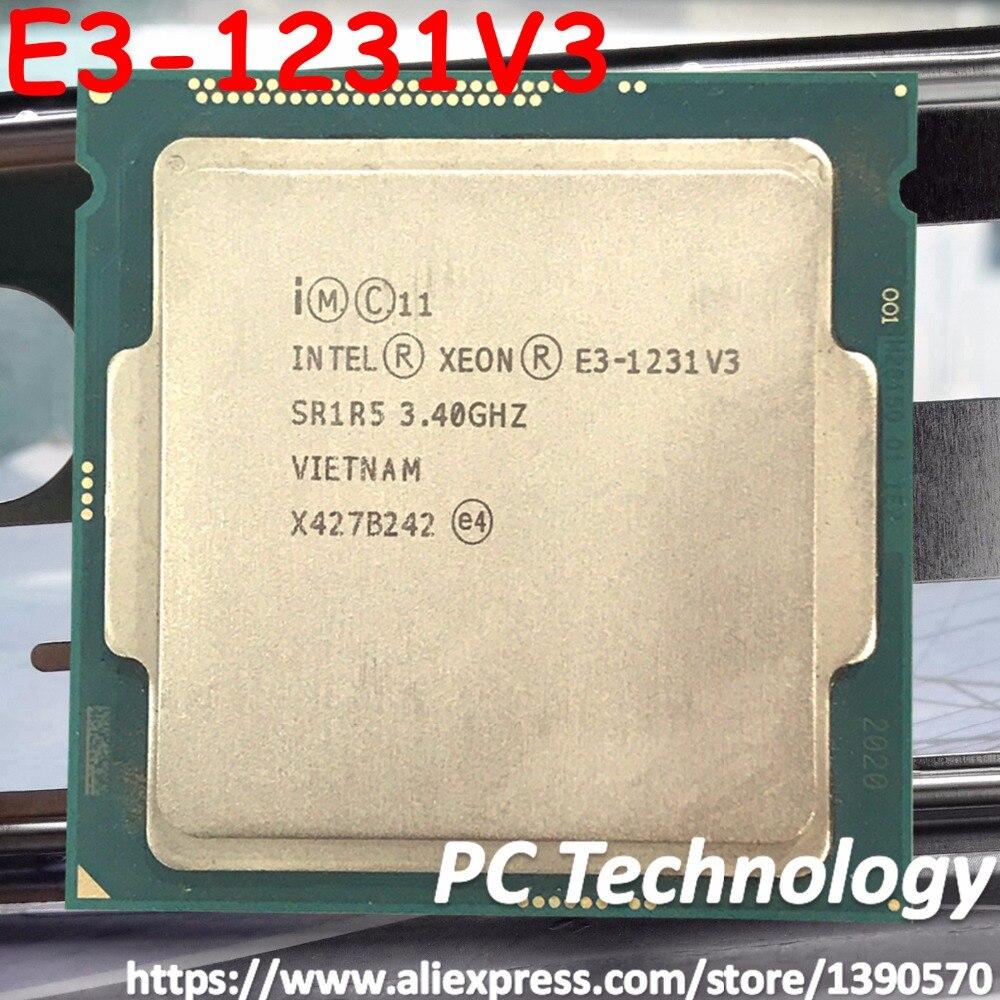 Procesador Original Intel Xeon E3-1231V3 CPU 3,40 GHz 8M LGA1150 de cuatro núcleos de escritorio E3-1231 V3 envío gratis E3 1231 v3 E3 1231V3