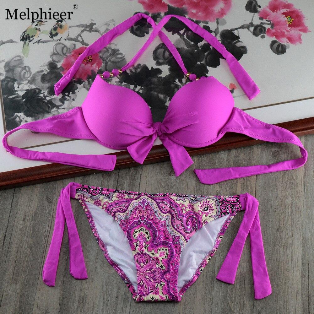 5 Color NEW Women Plus Szie Underwire Bikinis Bathing Suit Sexy Push Up Bikini Set Beach Support Swimwear Bandage Swimsuit XL