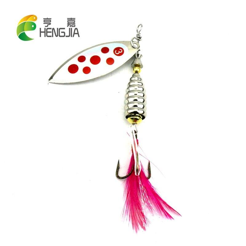 HENGJIA 8 cm 13g metal duro lâmina lantejoulas pike wobbler carpa truta poleiro bagre spinnerbaits corrico pesca iscas de pesca