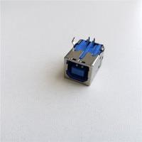 Printer USB interface BF90 degree B female white/black/blue USB port USB connector data interface D-type socket