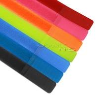 50 stks/partij Kleurrijke Herbruikbare Nylon Magic Tape Haak Lus Kabel Cord Ties Tidy Bandjes Organiseren