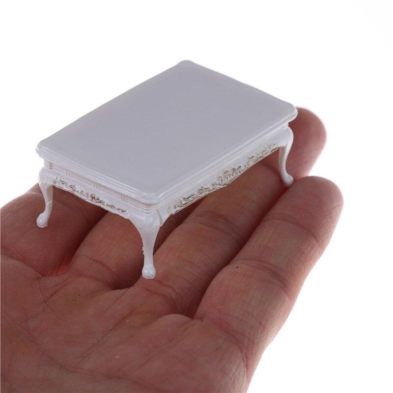 Bricolage meubles Miniatures café thé Tables à manger pour Mini maison de poupée Miniatures meubles jouets cadeaux blancs pour enfants adultes