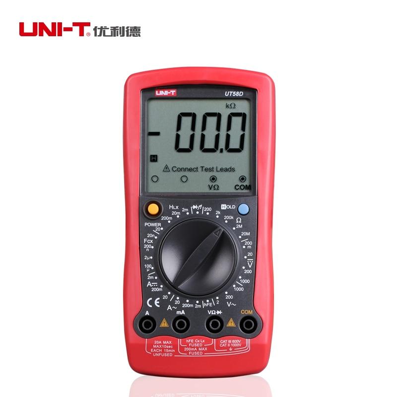 UNI-T ut58d dmm ac/dc multímetros digitais modernos grande lcd